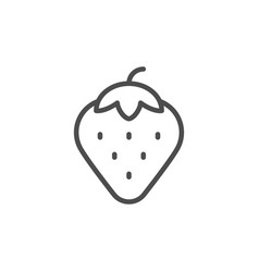 strawberry line icon vector image