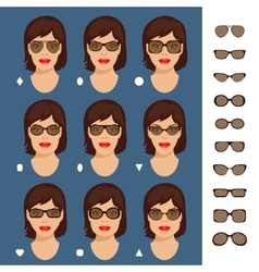 Sunglasses shapes 7 vector