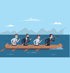 team destination business successful managers vector image
