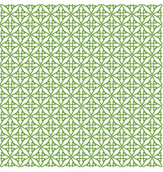 Tile pattern with green decoration on white vector