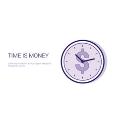 time is money schedule business deadline concept vector image