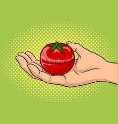 Tomato timer pop art vector