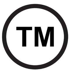 Trademark symbol icon vector image