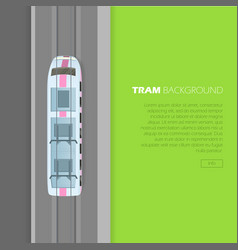 Tram background conceptual flat web banner vector