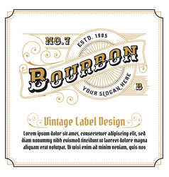Vintage frame logo design for label vector
