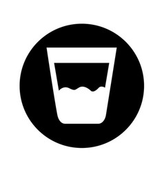 Water glass isolated icon vector