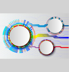 White technology abstract circuit hi-tech vector