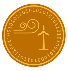 wind power digital coin vector image