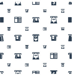 Withdraw icons pattern seamless white background vector