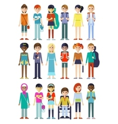 Children Figure Characters Set vector image