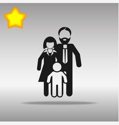 family black icon button logo symbol concept vector image vector image