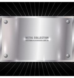 Metallic Silver Plate vector image
