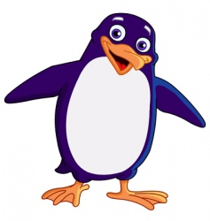 cheerful penguin vector image vector image