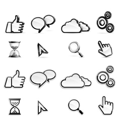 Media icons vector image vector image