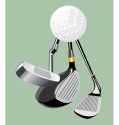 realistic Golf club and golf vector image