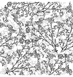 Seamless background with branches of beautiful vector image vector image