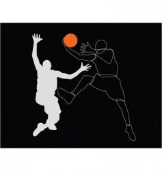 sportsmen poster vector image