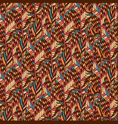 textile seamless pattern in ethnic colors ethnic vector image