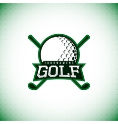 label of golf tournament vector image