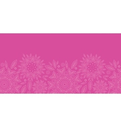 Pink abstract flowers texture horizontal seamless vector image vector image