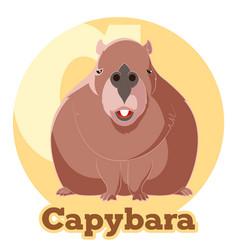 abc cartoon capybara vector image