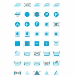 clothing care symbols vector image