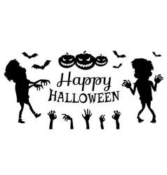 happy halloween poster black vector image vector image