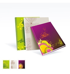 Magazine cover layout design vector image vector image
