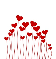 red heart flower vector image vector image