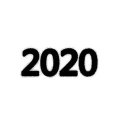 2020 grunge digits vector image