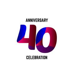 40 year anniversary celebration logo template vector
