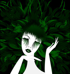 Abstract green lady vector