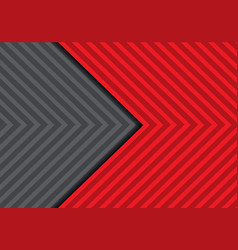 Abstract red grey arrow pattern design vector