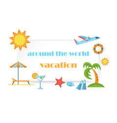 Around the world vacation poster vector