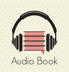 audio book vector image