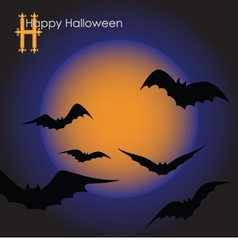Bats in the moonlight vector