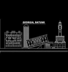 Batumi silhouette skyline georgia - batumi vector