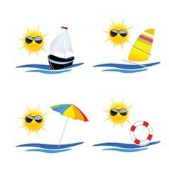 beach icon art vector image