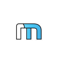 Black blue alphabet letter m logo company icon vector