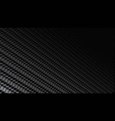 Black carbon fiber texture background vector
