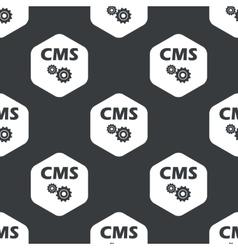 Black hexagon CMS settings pattern vector