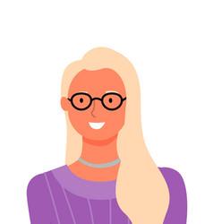 Blonde woman portrait online consultant vector