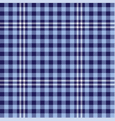 blue checkered scottish plaid vector image
