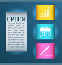 business design colored concept vector image