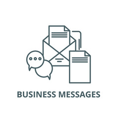 business messages line icon business vector image
