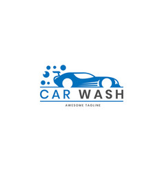 car wash logo design inspiration vector image