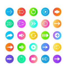 color arrow web button icons back out from to vector image