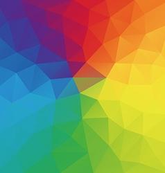 Color wheel abstract geometric rumpled triangular vector image