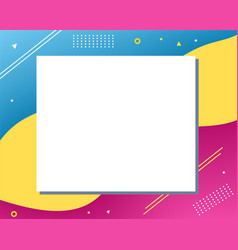 Colorful abstract modern copy space design vector