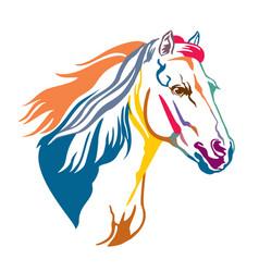 Colorful decorative horse 13 vector